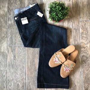 GAP Long and Lean Flare Dark Wash Jeans